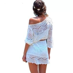 Other - Belted Creamy beach coverups